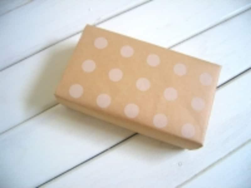 包装紙の包み方!ななめ包み/デパート包み:できあがり