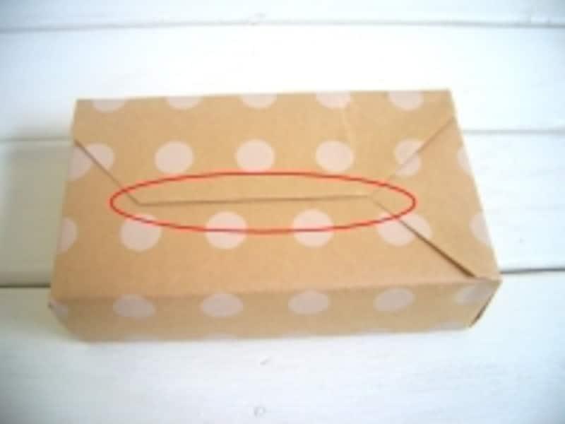 包装紙の包み方!ななめ包み/デパート包み:合わせ目を整える