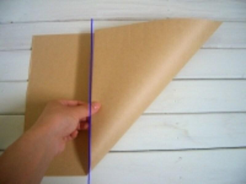 長方形の紙をカット