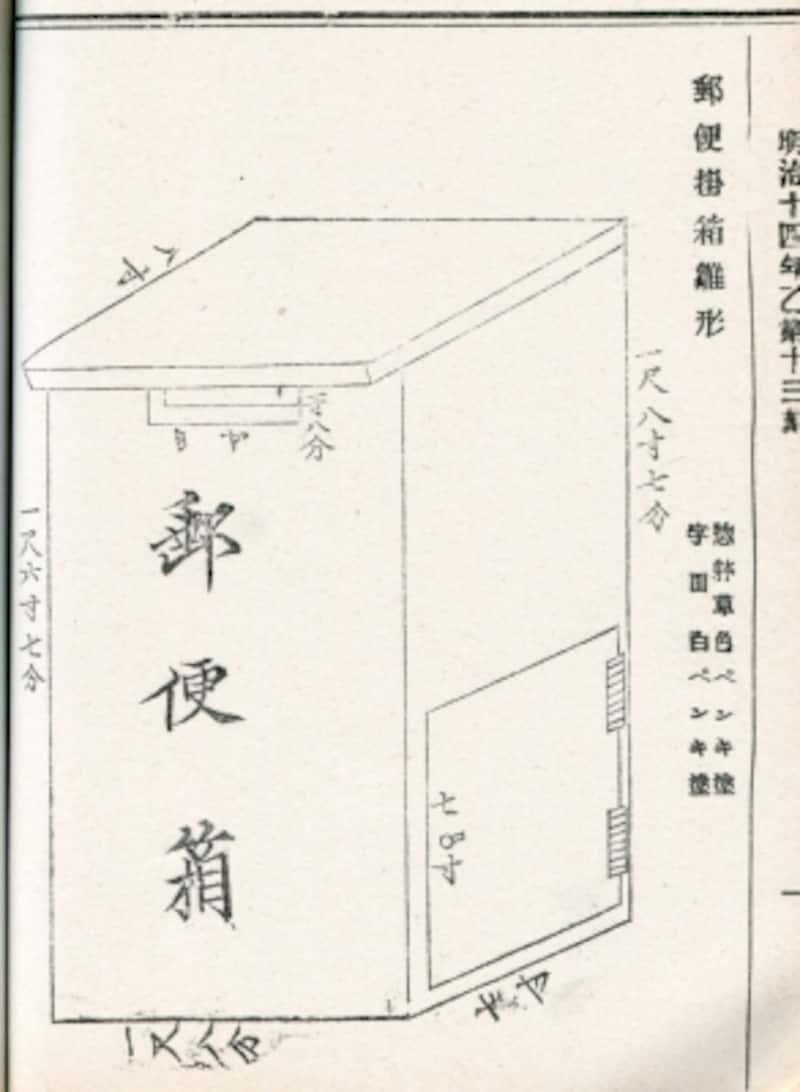 郵便掛箱の雛形