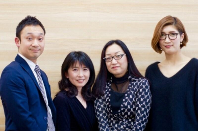 左から三瓶明彦さん、森川さゆりさん、冨田いずみさん、遠藤佳奈子さん。
