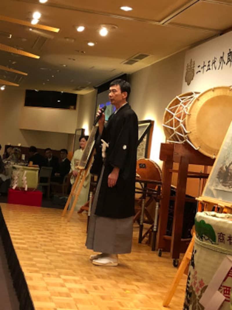 現在の外郎家当主、外郎藤右衛門定武さん。2017年11月に行われた「25代外郎藤右衛門襲名記念式典」にて