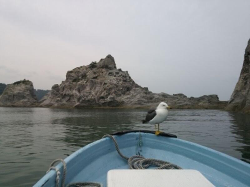 浄土ヶ浜(3)/さっぱ船で巨岩に接近!