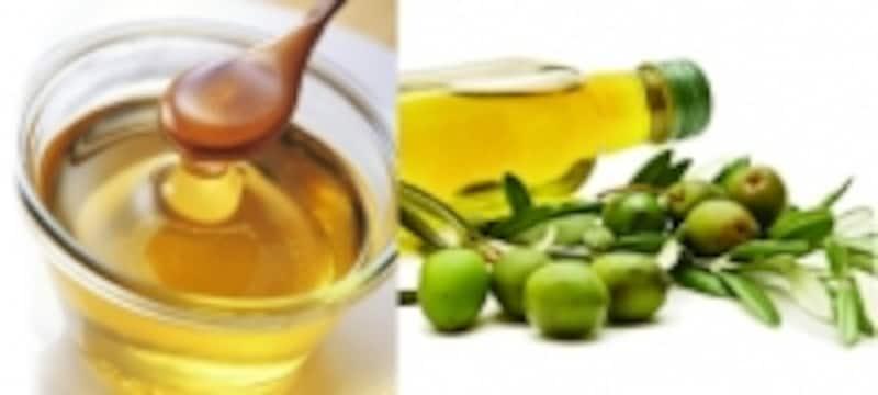 蜂蜜とオリーブオイル