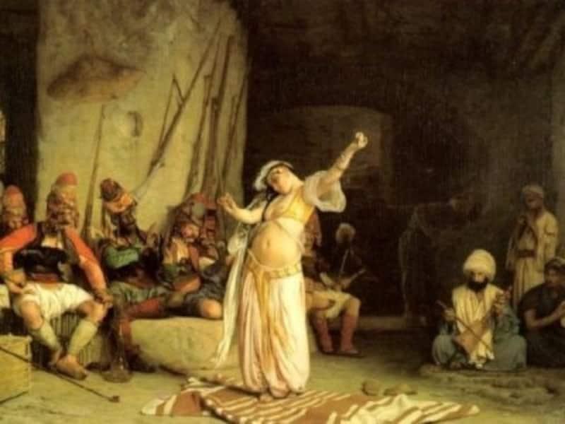 19世紀頃、ヨーロッパ人画家ジャン・レオン・ジェロームが描いたベリーダンサー(©Wikipedia)