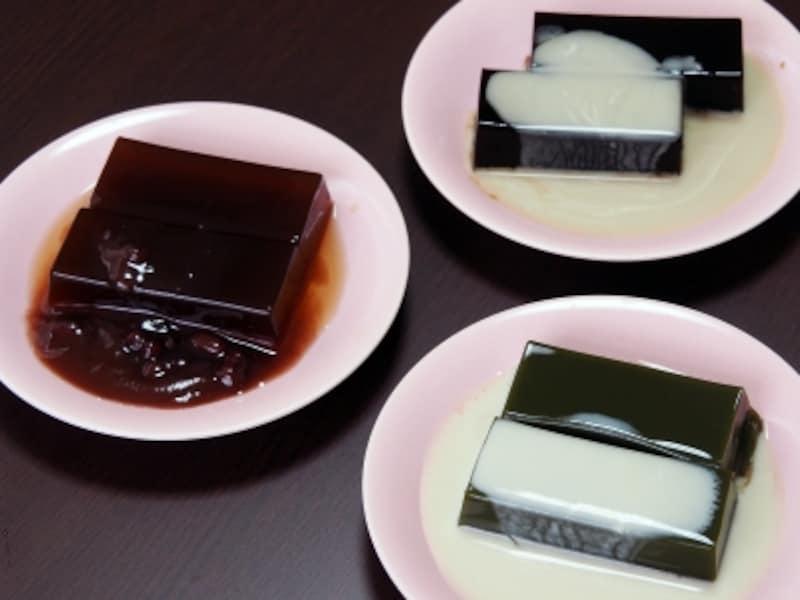 和の珈琲ゼリー&茶の香り羹@森八