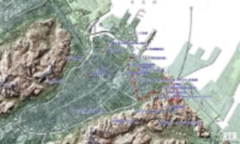 中心部の地図