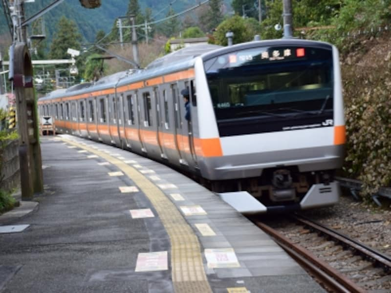 JR青梅線の「軍畑(いくさばた)」駅までは、新宿から1時間20分ほど
