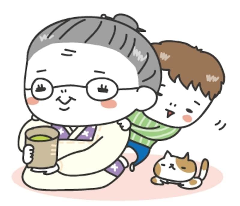 おばあちゃん 敬老の日 イラスト カラー かわいい