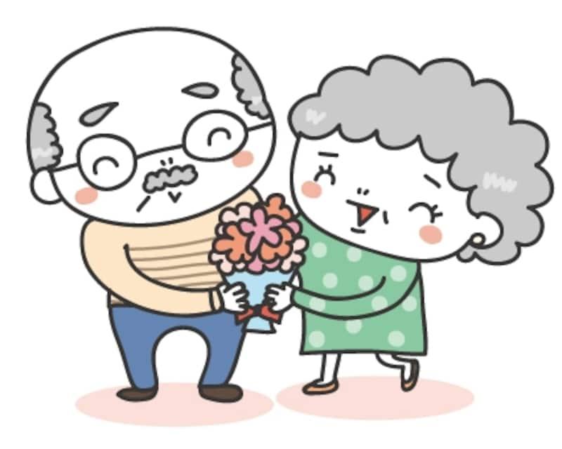 おじいちゃんとおばあちゃん 敬老の日 イラスト カラー かわいい