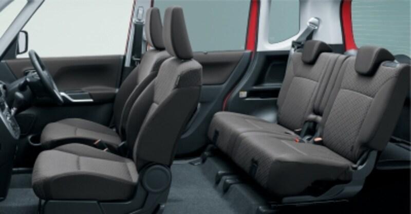広い荷室と豊富な収納スペース、後席両側スライドドアやリヤシートの利便性向上など使い勝手もアップ!