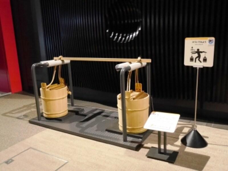 担げる『肥桶』の体験型展示