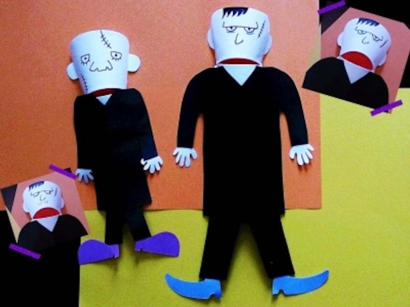 """ハロウィン工作は、紙コップで作れる""""パックン人形""""フランケンくんを"""