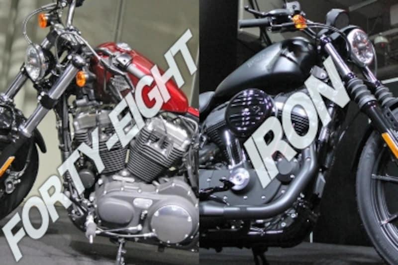 今年の注目モデルは、新たなエッセンスを加えたスポーツスターの2台、XL1200XフォーティーエイトとXL883Nアイアン
