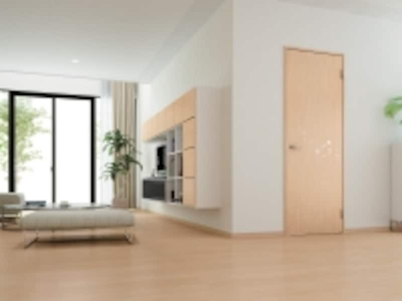 片開きドアundefinedS6デザインundefined<ミルベージュ>床材undefinedハピアフロアベーシックカラー<ミルベージュ>