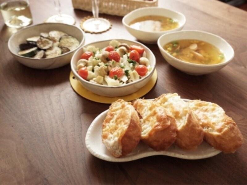 オイルサーディンと野菜のグリル定食