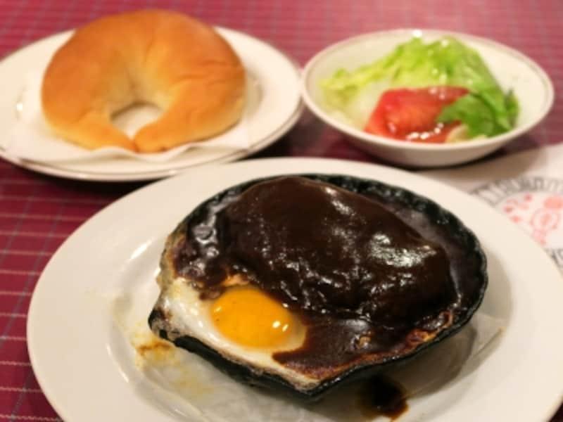 洋食キムラ「ハンバーグセット(1380円税込)」(2015年5月23日撮影)