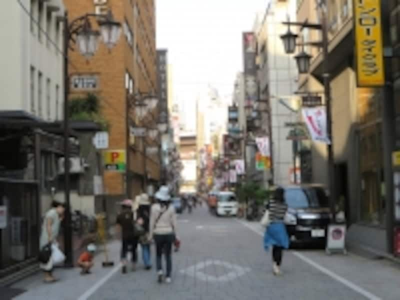 文京区と台東区の区界