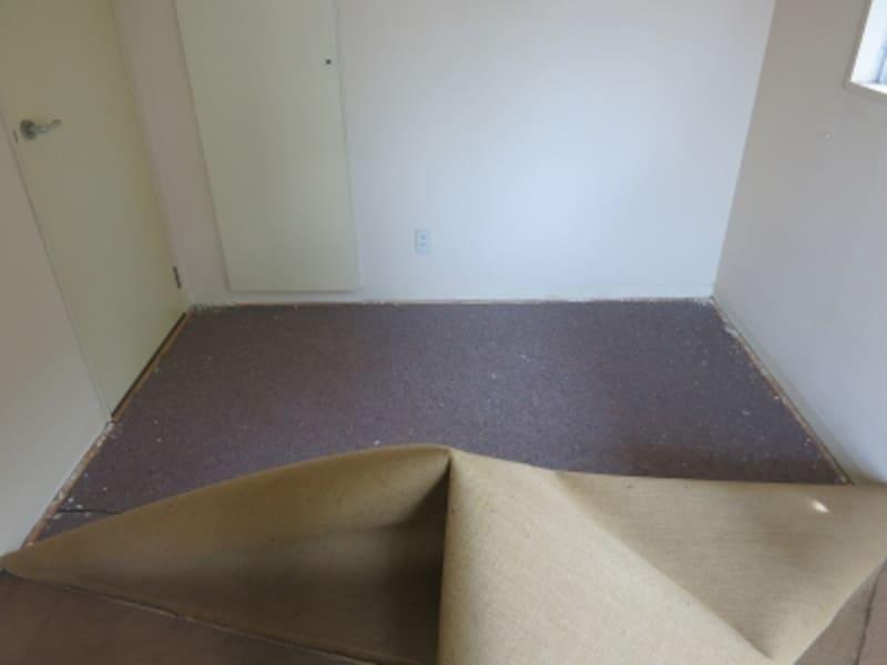 現状のカーペットを剥がしている様子の画像3undefined
