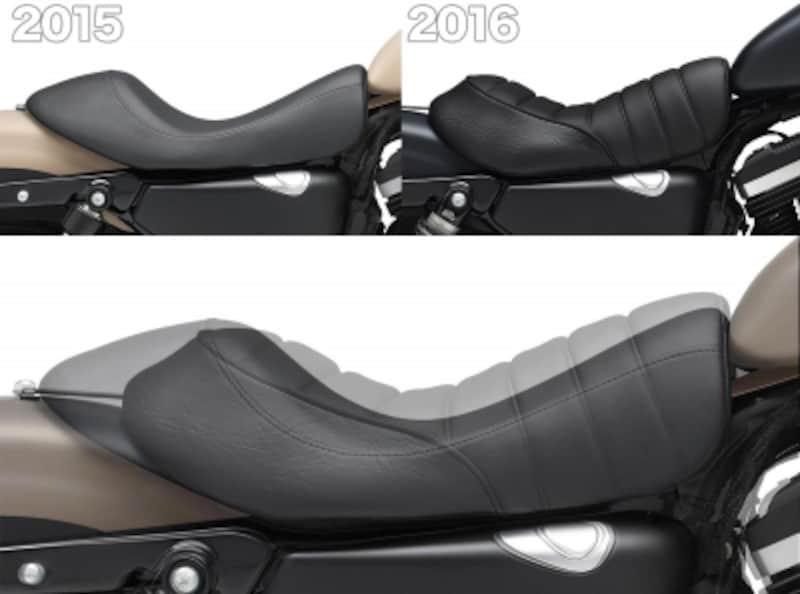 設計から見直されたシートは柔らかい素材ベースに。形状も大きく異なる