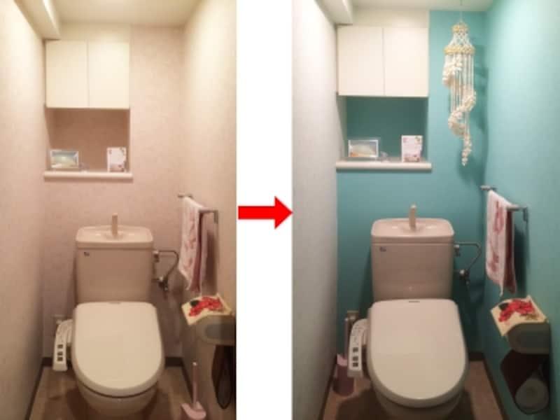 トイレの塗装前後