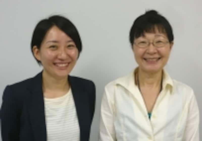 松本千晴助教(左)と上田公代教授(右)