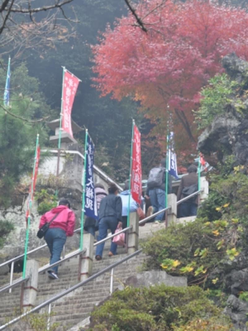 半僧坊への石段(2009年11月29日撮影)