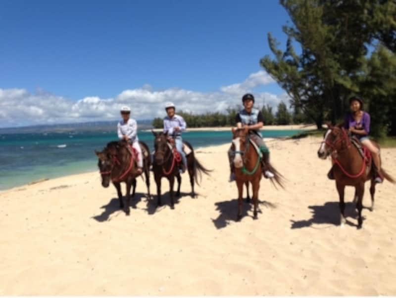 ハワイの乗馬