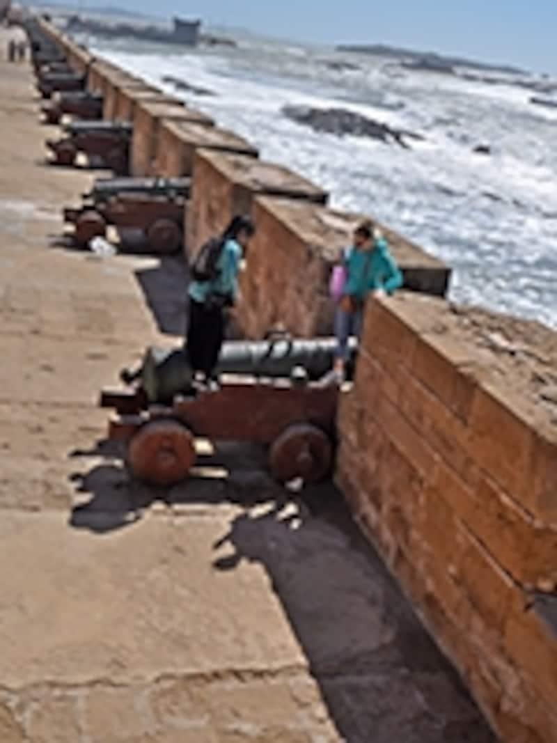 城壁に備えられた大砲