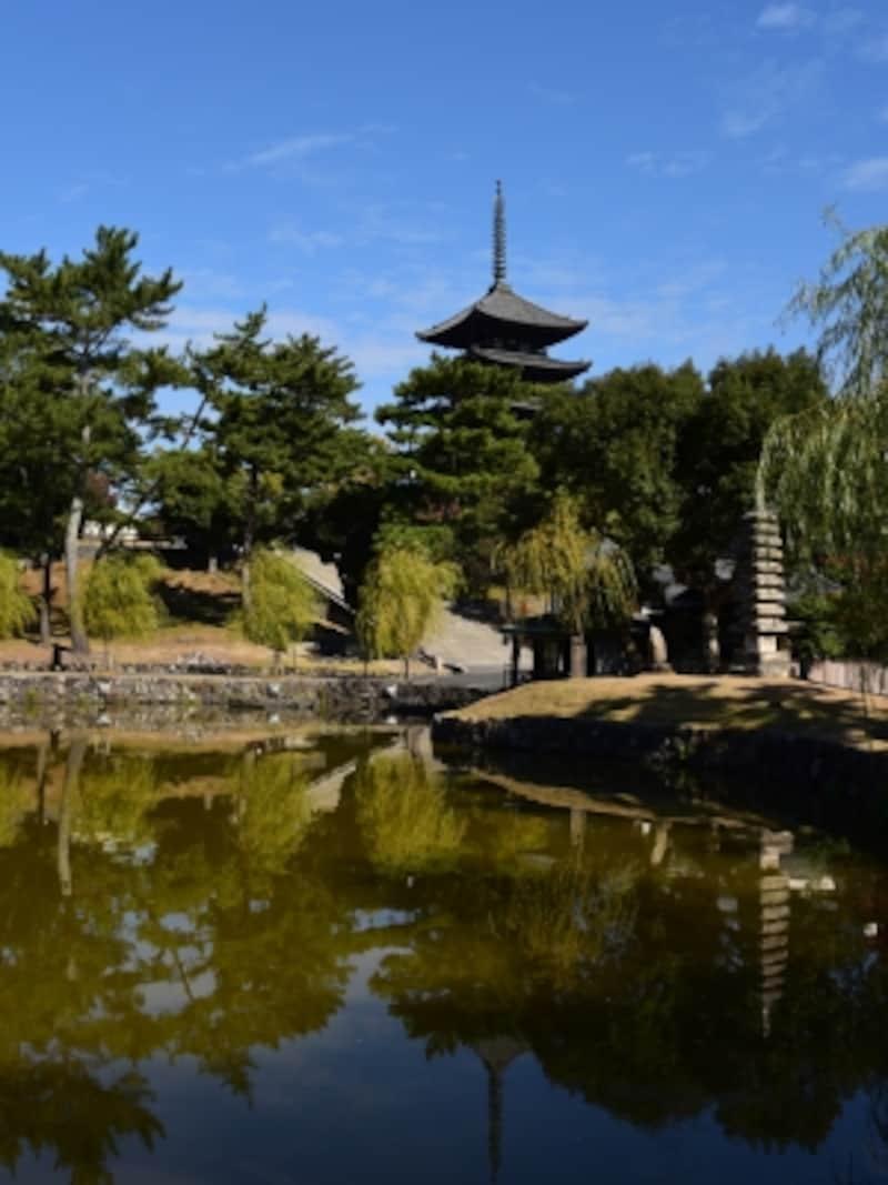 猿沢池と興福寺の五重塔