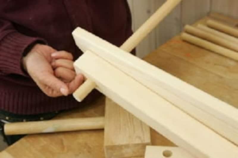 折りたたみテーブルのDIY・2×2材の板幅分は約38mm