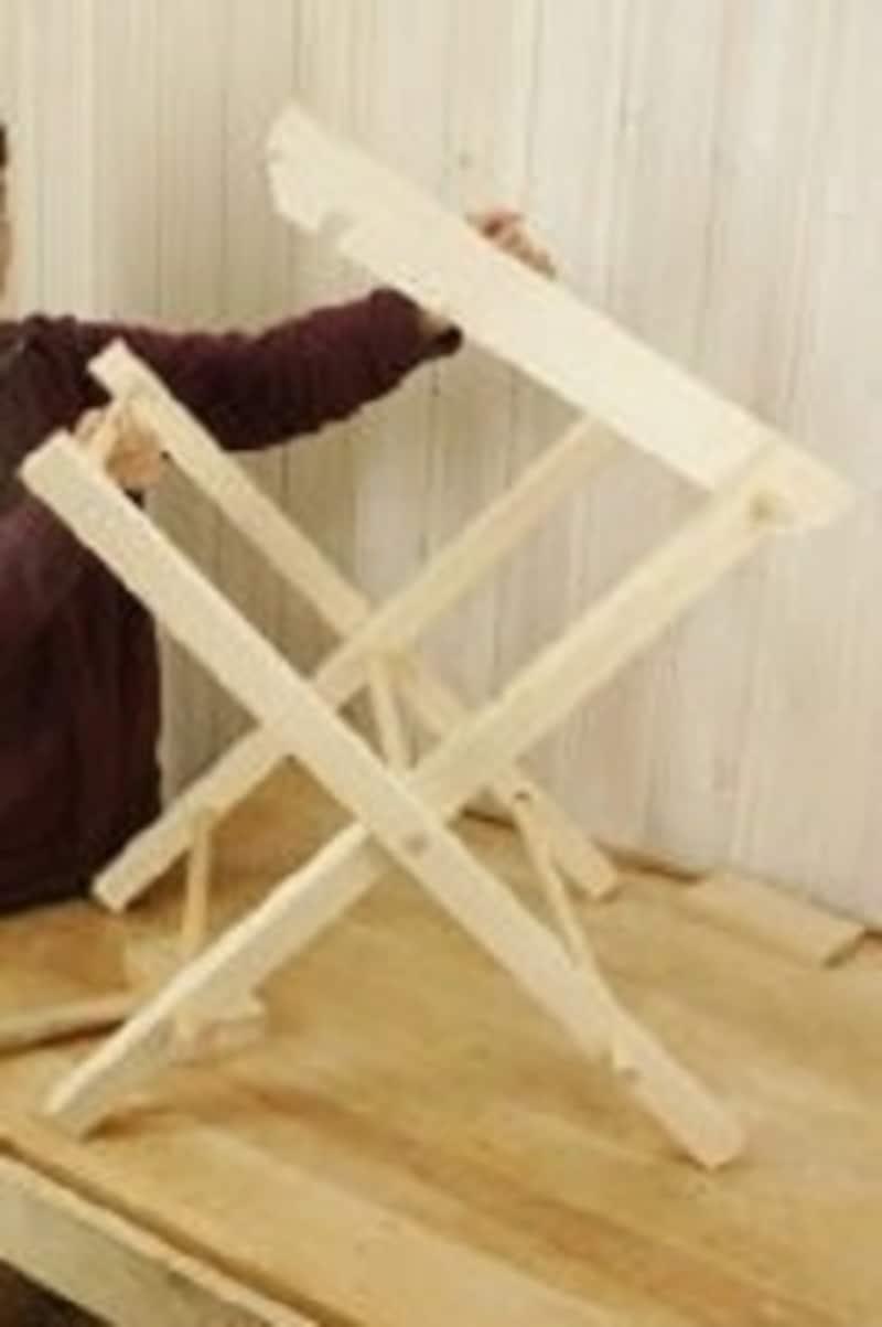 折りたたみテーブルのDIY・1×3材が天板側になります
