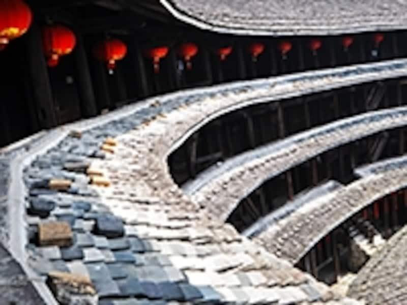 集慶楼の屋根屋根