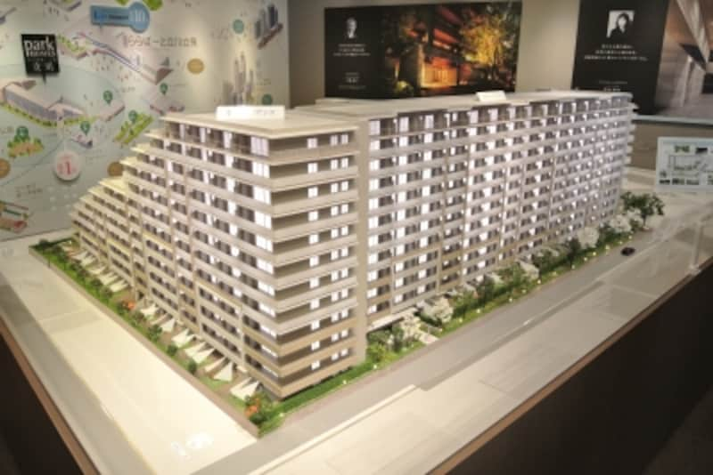 「パークホームズ立川」の完成予想模型