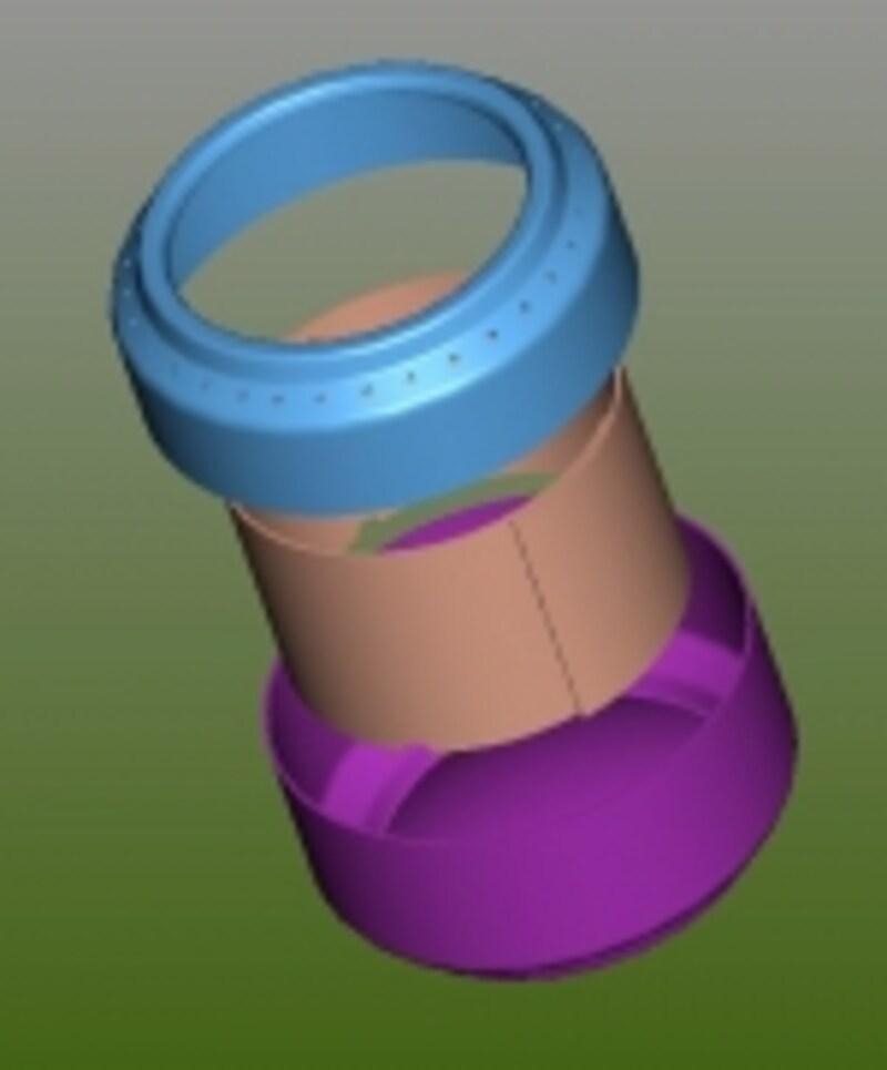 アルミ缶ストーブの構造図