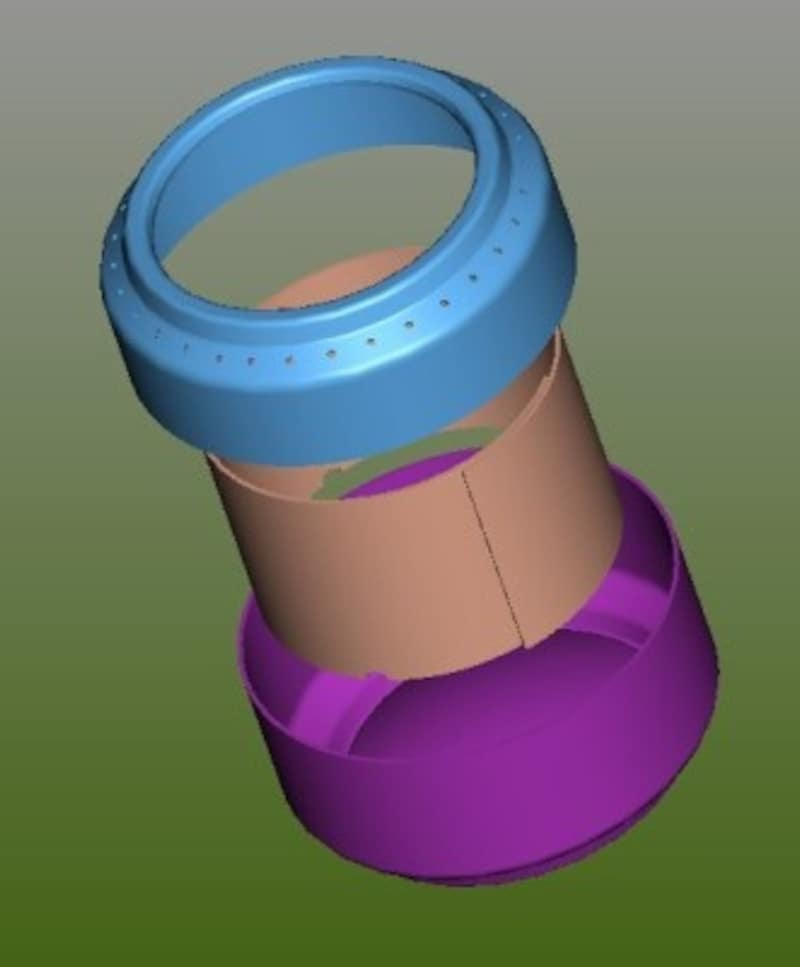 アルミ缶ストーブの構造図(ウィキペディアより)