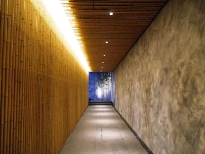 温泉施設への通路