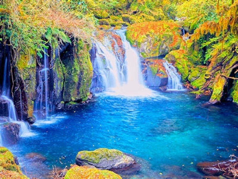 菊池渓谷「竜ヶ渕・天狗滝」の紅葉