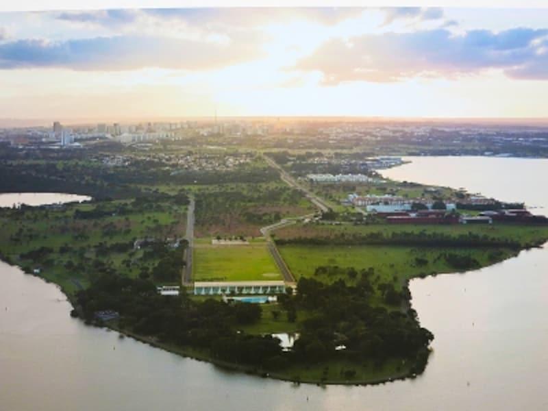 空から眺めるブラジリアの画像