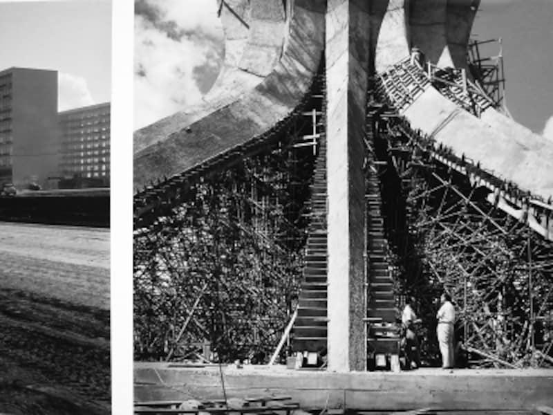 1959年建設中のブラジリア大聖堂の画像