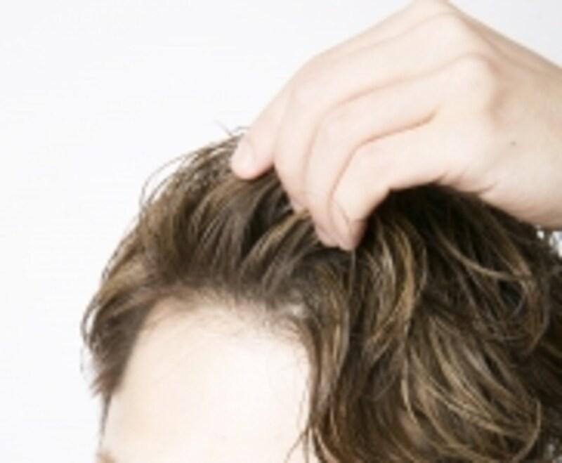 「かき上げヘア」のイメージ