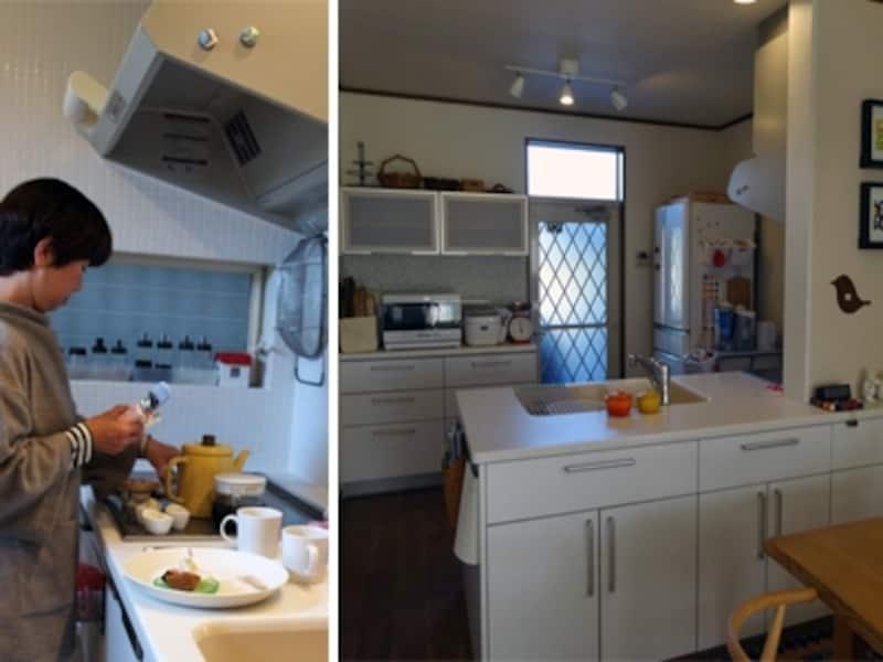 吊戸棚のないオープンキッチン収納