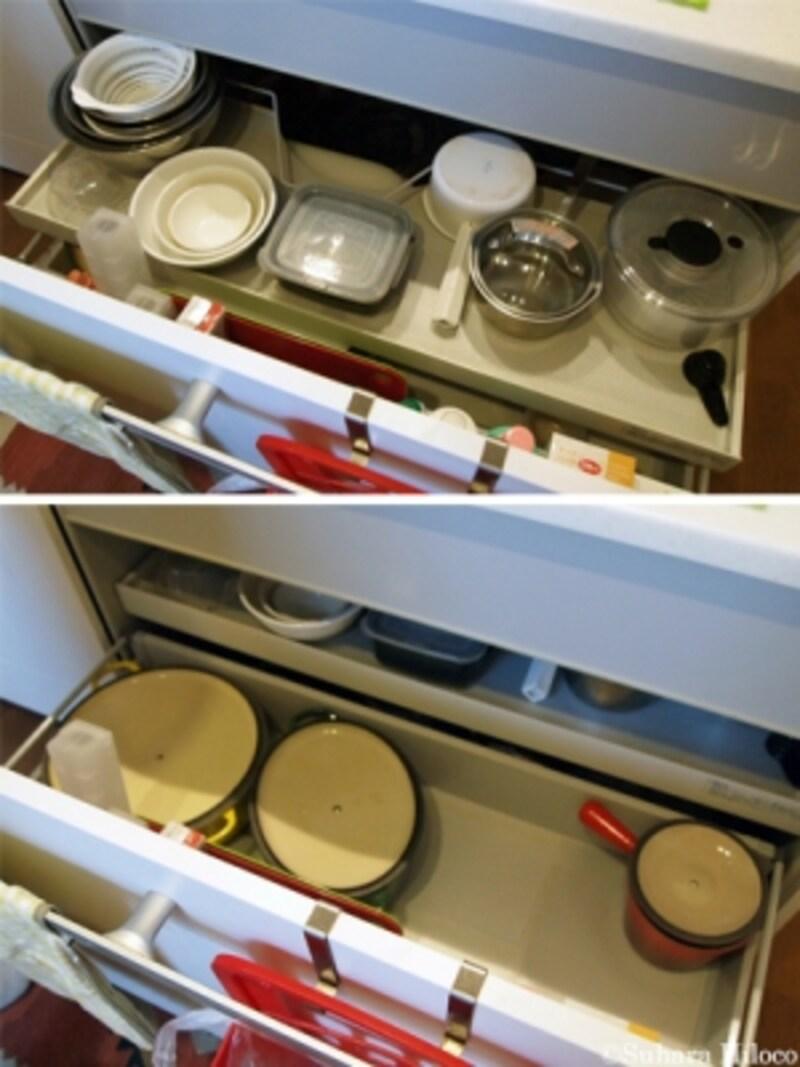 キッチンの流し下収納