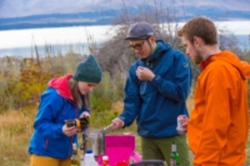 冬季のキャンプ