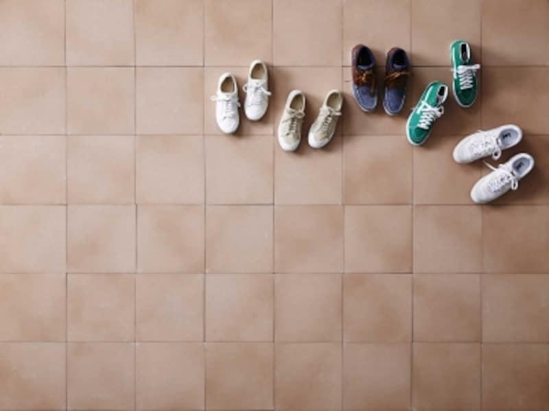 ドアを開けた途端に目に入る何足もの靴……