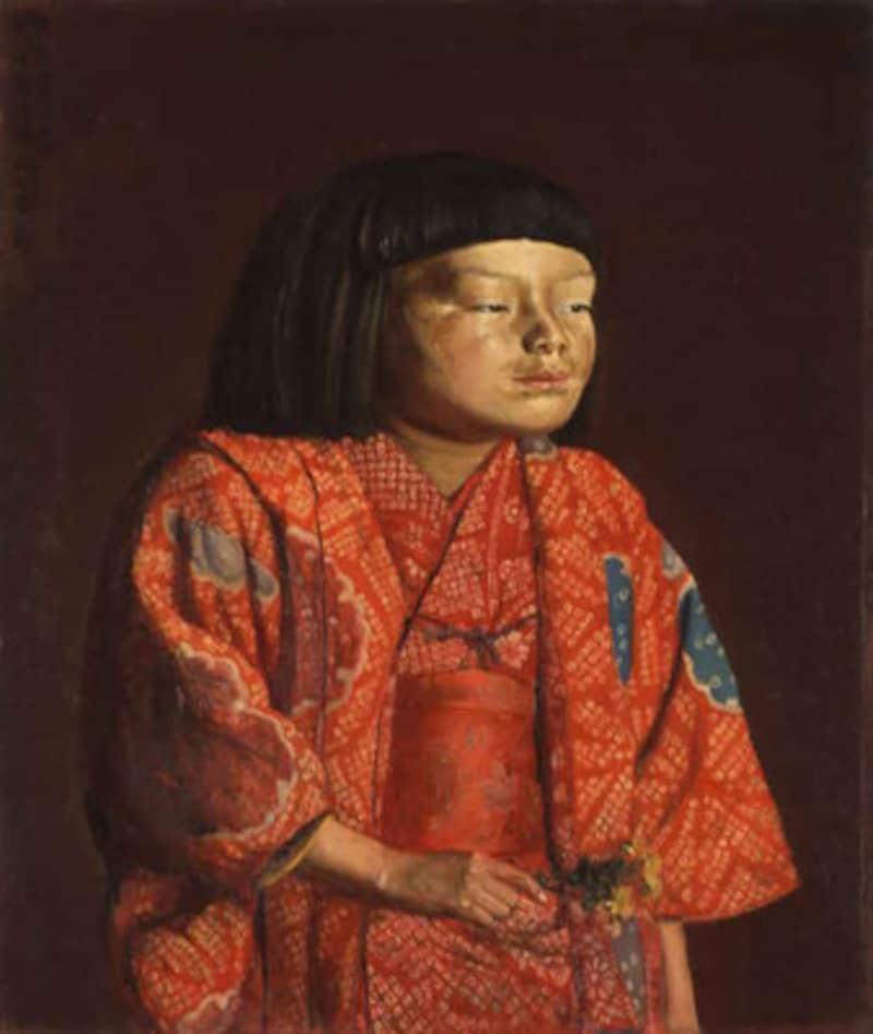 岸田劉生《童女図(麗子立像)》(画像提供:神奈川県立近代美術館)