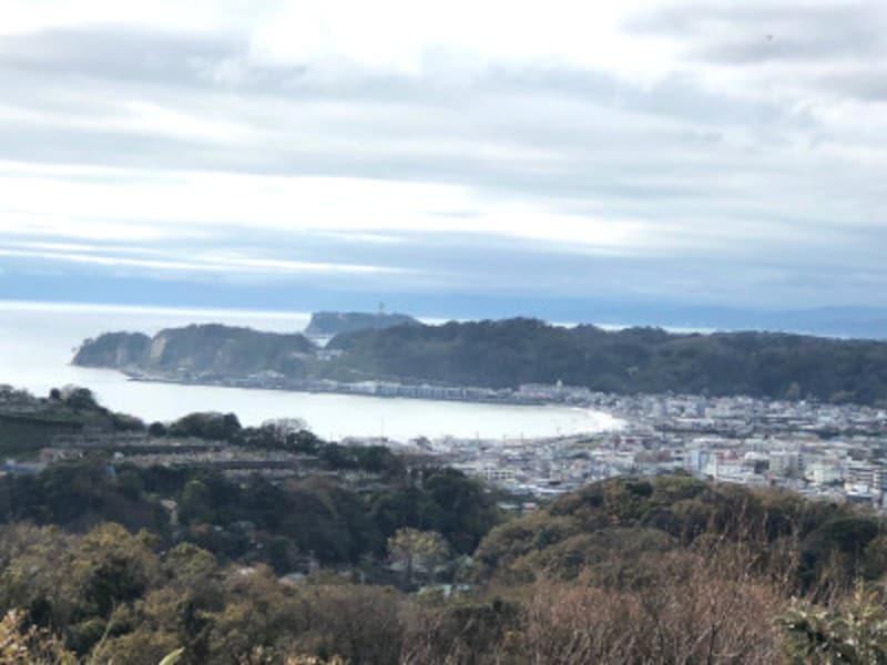 「パノラマ台」から眺めた鎌倉市街地と海(2019年11月24日撮影)