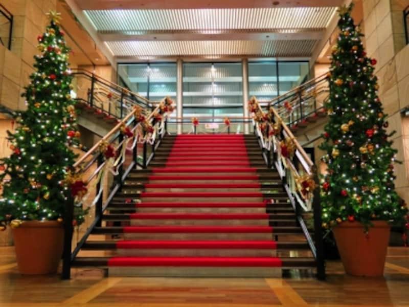 ヨコハマスカイ28階クリスマス装飾のようす(2015年11月20日撮影)