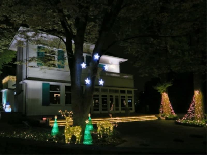 横浜・山手西洋館のひとつ「エリスマン邸」のイルミネーション装飾のようす(2014年)