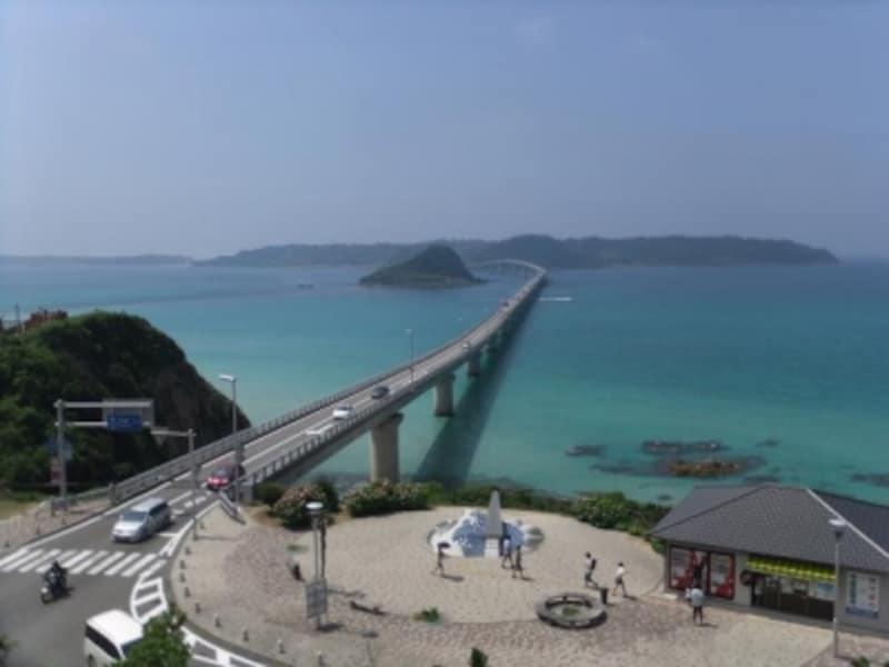 角島大橋(1)/本州側の高台より
